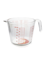 Home Maker 1500ml Glass Measuring Cup, Clear