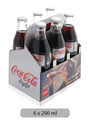 Coca Cola Light Soft Drink, 6 Bottles x 290ml