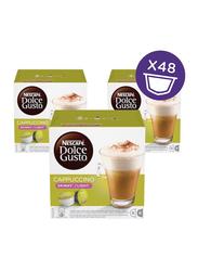 Nescafe Dolce Gusto Skinny Cappuccino Coffee Capsules, 8 Cappuccino + 8 Milk Capsules, 3 Boxes x 161.6g