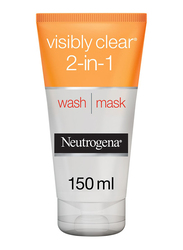 Neutrogena Visibly Clear 2-in-1 Facial Wash Mask, 150ml