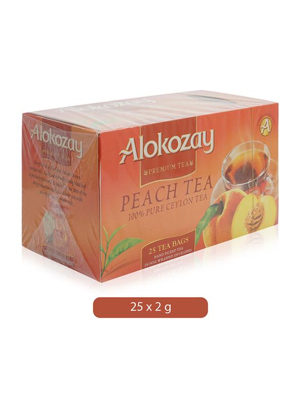 Alokozay Peach Tea, 25 Tea Bags x 2g