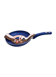 Cookery 28cm Non Stick Round Frying Pan, Blue