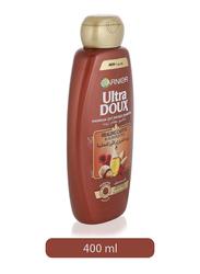 Garnier Ultra Doux Healing Castor and Almond Oil Shampoo for All Hair Types, 400ml