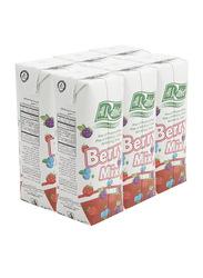 Al Rabie Berry Mix Juice, 6 x 120ml