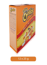 Cheetos Crunchy Flaming Hot, 12 x 25g