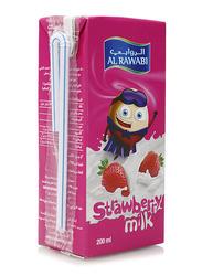 Al Rawabi Strawberry Fresh Milk Drink, 200ml