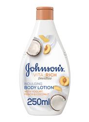 Johnson's Vita-Rich Smoothies Indulging Body Lotion with Yogurt/Peach/Coconut, 250ml