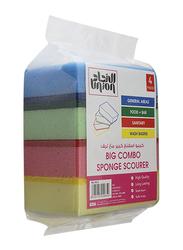 Union Big Combo Sponge Scourer, Multicolor, 4 Pieces