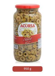 Acorsa Sliced Green Olives, 950g