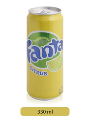 Fanta Citrus Soda Can, 330ml