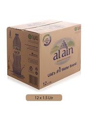 Al Ain Bottled Mineral Drinking Water, 12 x 1.5 Liters