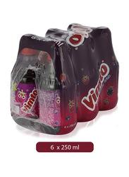 Vimto Fruit Flavor Juice Drink, 6 Bottles x 250ml