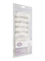 Vitra Elfin Bath Scrubber Glove, Brown/Cream, One Size