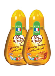 Honey Moon Squeezy Honey, 2 Bottles x 250g