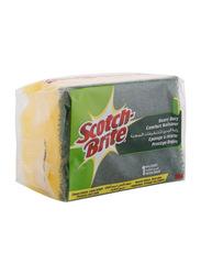 Scotch Brite Heavy Duty Single Nail Saver Sponge, 1 Piece, Yellow/Green