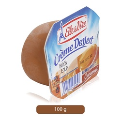 Elle & Vire Caramel Flavor Cream Dessert, 100 g