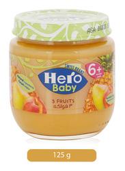 Hero Baby 3 Fruits Jar, 125g