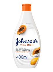 Johnson's Vita-Rich Smoothing Body Lotion with Papaya Extract, 400ml