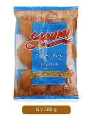 Yaumi Plain Burger Bun, 6 Pieces, 300g