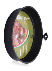 Union 24cm Round Non-Stick Pizza Tray, Black
