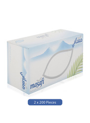 Masafi White Facial Tissue, 200 Sheets x 2Ply