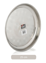 Union 25 cm Stainless Steel Round Thala Tray, Silver