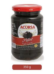 Acorsa Black Pitted Olives, 350g