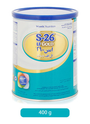 Wyeth Nutrition S-26 LF Gold Formulation Milk, 0-6 Months, 400g