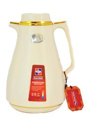 Homemaker 1Ltr Vacuum Flask, Pearl Milk White