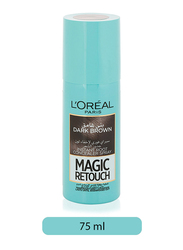 L'Oreal Paris Magic Retouch Instant Root Concealer Spray for All Hair Types, 75ml, Dark Brown