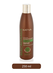 Kativa Macadamia Hydration Softness and Shine Conditioner for All Hair Types, 250ml