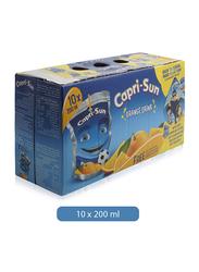 Capri Sun Orange Flavored Juice Drink, 10 x 200ml
