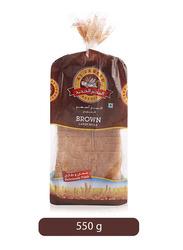 Al Jadeed Brown Sliced Bread, Large, 550g