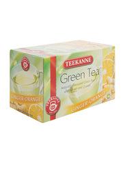 Teekanne Ginger & Orange Flavored Green Tea, 20 Tea Bags x 1.75g