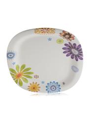 Servewell 25x30 cm Ceramic Oval Serving Platter, White