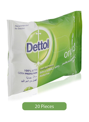 Dettol Anti-Bacterial Skin & Surface Wipes, 20 Pieces