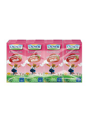 Lacnor Strawberry Milk, 12 Tins x 180ml