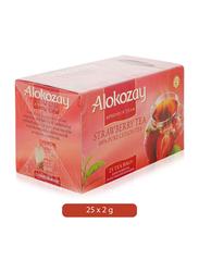 Alokozay Strawberry Tea, 25 Tea Bags x 2g