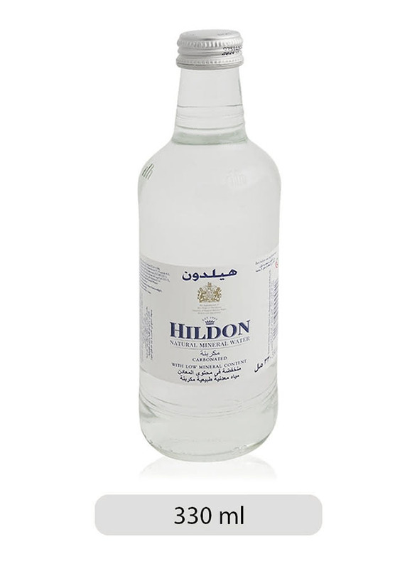 Hildon Carbonated Mineral Water Bottle, 330ml