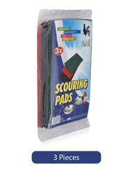 Union Scouring Pads, 16.5x11cm, 3 Pieces
