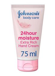 Johnson's 24 Hour Moisture Extra Rich Hand Cream, 75ml