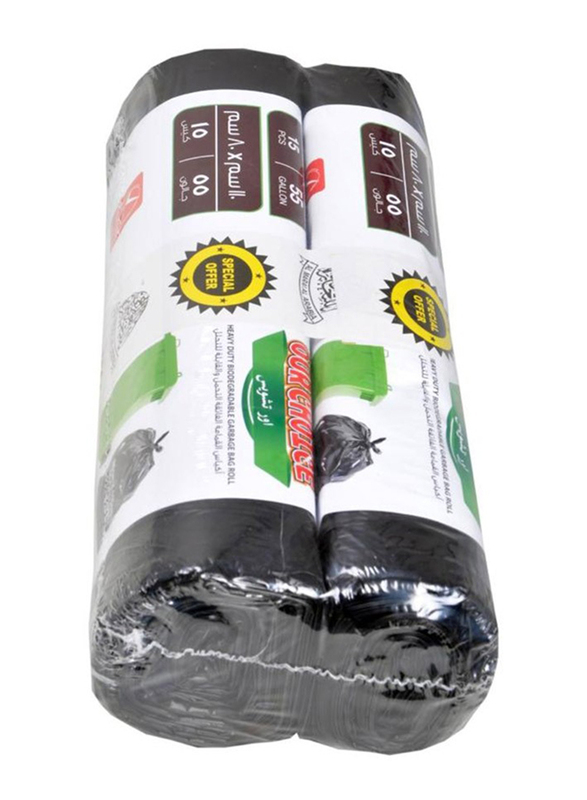 Our Choice Heavy Duty Biodegradable Garbage Bags, 105 x 125cm x 2 Pieces, 20 Bags x 15 Gallons