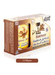 Union Bakhoor Anti-Bacterial Moist Wipes, 12 Sheets
