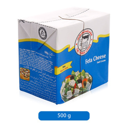 The Three Cows Full Cream Feta Cheese, 500 g