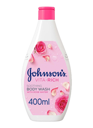 Johnson's Vita-Rich Soothing Body Wash with Rose Water, 400ml