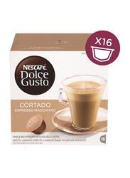 Nescafe Dolce Gusto Cortado Espresso Macchiato Coffee, 16 Capsules x 6.3g
