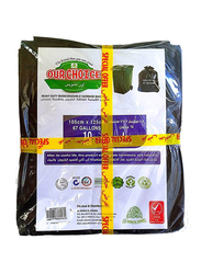 Our Choice Heavy Duty Biodegradable Flat Garbage Bags, 105 x 125cm x 2 Pieces, 20 Bags x 67 Gallons