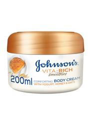 Johnson's Vita-Rich Smoothies Comforting Body Cream with Yogurt/Honey/Oats, 200ml