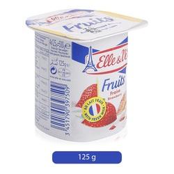 Elle & Vire Strawberry Flavor Yogurt, 125 g