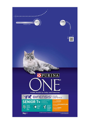 Purina One Chicken and Whole Grains Flavor Adult Dry Cat Food, 3 Kg